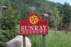 Sunray Meadows sign