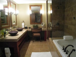 One Steamboat Place master bath